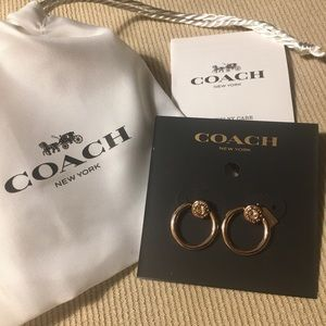 ❤️NWT❤️Coach Rose Gold Open Circle Earrings